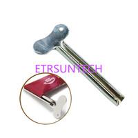 المعادن معجون الأسنان عصارة متعددة الوظائف البلاستيك كريم أنبوب الضغط موزع المنظم لوازم الحمام بالجملة شحن مجاني QW7964