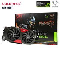 Colorido GeForce GTX GPU 1050Ti 1050 TI 4 GB GDDR5 de 128 bits del juego de video Tarjetas gráficas para la mesa del ordenador de 960 750Ti