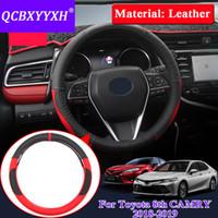 QCBXYYXH Style De Voiture Pour Toyota 8ème Camry 2018-2019 Couvre Volant Couvre volant en cuir accessoire intérieur