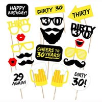 20pcs pack DIY 30th Birthday Party Photo Booth Props Kit Sui...