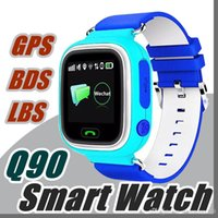Q90 Bluetooth Smartwatch con GPS WiFi LBS per iPhone IOS Android Smart Phone Wear Orologio Wearable Device Smart Watch 3 Colori S-BS