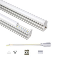 T5 LED integrado Tubo 1ft 2 pies 3 pies 4 pies Tubo 175-265V fluorescente LED SMD2835 6W 10W 14W 18W llevó luces
