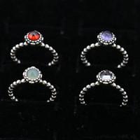 Charm Ring Size Contrassegnato 12 Mesi regali di compleanno solido argento 925 stile argento europeo Weding monili degli accessori dei
