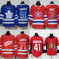 Männer 2019 Neue Zuhause Mode Druck allmähliche Änderung Jersey 91 Johntavares 71 Dylan Larkin 31 Carey Preis 13 Johnny Gaudreau Hockey Trikots