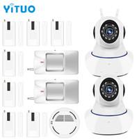 فجوة الباب لاسلكية واي فاي شرطة التدخل السريع 720P IP كاميرا لأمن الوطن ونظام إنذار لاسلكي نظام إنذار كاميرا مراقبة جهاز YITUO