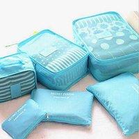 6 Unids / set A Prueba de agua Bolsa de Almacenamiento de Equipaje Bolsa de Almacenamiento de Ropa Para El Hogar Portátil Bolsas de la Caja Portátil