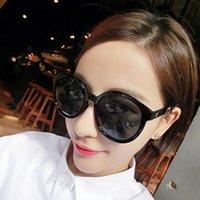 1 قطع عالية الجودة الأزياء جولة نظارات رجالي إمرأة مصمم ماركة نظارات الشمس الذهب معدن أسود داكن 50 ملليمتر العدسات الزجاجية أفضل حالة البني