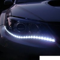 Auto impermeabile Auto Auto Decorativo Flessibile Flessibile Strip Highpower 12V 30cm 15SMD Auto LED Daytime Esecuzione auto luce LED Strip Light DRL