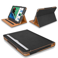 Luxury Tan Soft Leather Wallet Stand Flip Case Smart Cover for New iPad 9.7 2017 2018 Air 2 3 4 5 6 7 Air2 Pro 10.5 Mini Air2 Mini4