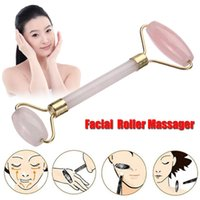 Natural Rose Quartz Facial Massage Roller Jade Facial Massag...