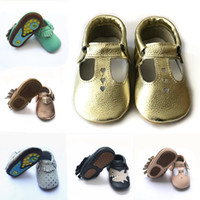 Free shipping rubber sole baby leather moccasin shoes, outdoo...