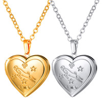 Aries Pattern Lockets Necklaces 18K Gold Platinum Plated Lov...