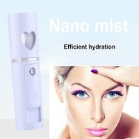 MOQ 1 UNIDS Mini USB Recargable Facial Steamer Nano Facial Mist Sprayer Cool Face Spray Steamer Viajes Hidratante Face Sprayer