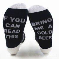 Unisex fresco Parejas calcetín Si usted puede leer esto me trae un vaso de cerveza Palabras humor del vino calcetines deportivos de 7 colores disponibles EUR 36 -43