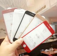300pcs 3D 4D 5D Film de protection d'écran incurvé pour iPhone X 8 7 6 6 Plus XS XR XS Film de protection complet pour iPhone 6 Film de verre trempé