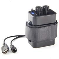 Étanche DC 8.4V USB 6 x 18650 support de boîte de stockage de la batterie pour vélo LED lumière téléphone portable