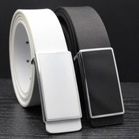 Stylish white and black leather strap man Korean edition, tr...