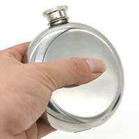 5 oz Hip Mataralar Paslanmaz Çelik Şarap Pot Ayna Pürüzsüz Ile Taşınabilir Yuvarlak Flagon Erkekler Seyahat Kupalar Küçük Huni DHL Ücretsiz Stok WX-C53