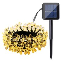 Solar peach lamp string waterproof festival decoration 30LED...