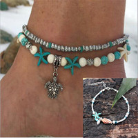 New Fashion Shell Anklet Beads Starfish Anklets For Women Ha...