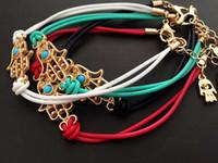 khamsah malvado ojo cuerda pulsera de alta calidad regalo de joyería de moda para los amantes del encanto Hamsa Mano buena suerte