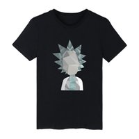 Wholesale- Rick And Morty Funny Printing Shirt Men Geometric ...