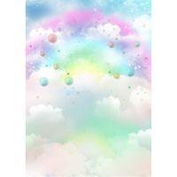 Dreamlike Rainbow Cloud Sfondo per fotografia Baby neonato Photoshoot puntelli Bambini bambini Birthday Party a tema Photo Booth Sfondi