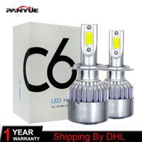 1pairs Auto Voiture H8 H11 H7 H4 H1 LED Phares 6000K Blanc Froid 72W 8000LM COB Ampoules Diodes Automobiles Pièces Lampe