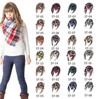 Children Girls Triangle Plaid Scarf Winter Plaid Scarf Baby ...
