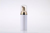 50ML زجاجة رغوة بلاستيكية مضخة السائل الأبيض موزع الصابون أفضل زجاجة رغوة أرخص مع رغوة ذهبية