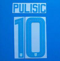 2018-19 Сборная США по футболу Nameset Customize Name A-Z Number 0-9 Печать футболиста шрифт PULISIC nameset patch
