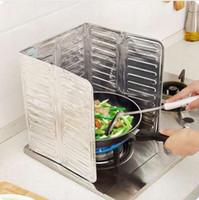 Telas de Óleo Splatter Óleo de Fogão A Gás Da Placa Da Folha De Alumínio À Prova de Explosão Defletor de Cozinha Resistente Ao Calor Ferramenta Cozinhar Isolar Respingo