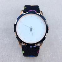 Популярный модный бренд женская девушка Кожаный ремешок кварцевые наручные часы L04