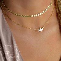 Gümüş Altın Çift Katmanlı Barış Güvercin Kolye Çok Katmanlı Zincir Gerdanlık Kolye Yaka Moda Takı Kadınlar Noel Hediyesi 50 ADET