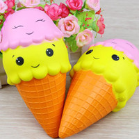 Hot Sale Giant 18cm Smile Face Ice Cream Squishy Double Head...