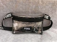 Pink Fanny Pack Transparent Waist Bag Outdoor Bag Letter Bea...