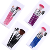 5 Pcs lot Pink Make Up Brushes for Beginner Tools Kit Eye Sh...