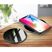 Desktop Fast Qi Wireless Charger stand pad 9V 1. 8A 5V 2A 2 C...