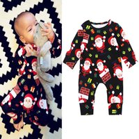 Christmas Newborn Clothing long sleeve Baby Rompers Autumn W...