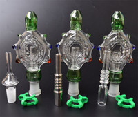 Tubos de fumar Néctar Collector Percants Pendants Kit com 14mm Titanium Quartz Dica Prego Wearable Rig Rig Glass Bongs