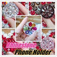 Universal Expanding Phone Holder 360 Grad Luxus Blume Diamant Strass Shiny Support Handyhalter für iPhone Xs Max Xr