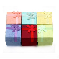 Bevorzugungs-Beutel-Großverkauf-multi Farbschmucksache-Kasten, Ring-Kasten, Ohrring-Kasten 4 * 4 * 3 Verpackungs-Geschenk-Kasten-freies Verschiffen