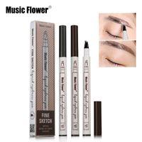 Music Fleur Liquide Sweet Sweet stylo Eye Brow Enhancer 3 couleurs Quatre tête imperméable DHL