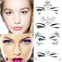 Adhesive Face Rhinestone Jewels Festival Club Rave Party Bod...