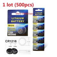 500 stücke 1 los CR1216 3 V Lithium li ion knopfzelle CR 1216 3 Volt li-ion münzenbatterien freies verschiffen