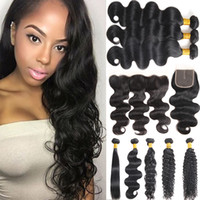 8A Mink Unprocessed Water Wave 3 Bundles with Frontal Indian...