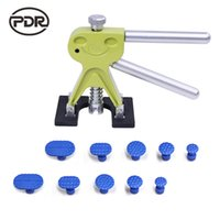 PDR araçları dents kaldırıcı çektirme Paintless Dent Onarım Araçları Set PDR yeşil Dent Kaldırıcı Dolu Onarım Göçük Kaldırma el aletleri