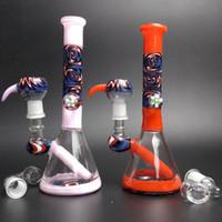 Tubi di vetro colorato Bong Acqua Dab Rigs Mini Bubbler Glass Nail Bella Bong Dab Oil Rigs Beaker Base quarzo Banger