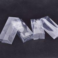Grande Retangular Caixa De Dobrável De Plástico Transparente / Clear PVC Embalagem Caixa de Amostra / Presente / Artesanato Caixas De Exposição W7167