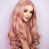 Hot Beautiful Synthetic Lace Front Wig Middle Part Long Body...